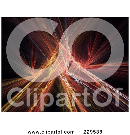Royalty-Free (RF) Clipart Illustration of a Colorful Fractal Blast On Black by Qiun