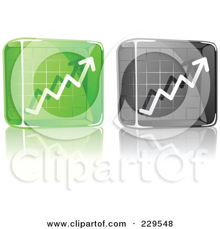 Royalty-Free (RF) Clipart Illustration of a Digital Collage Of Black And Green Glass Profit Icons by Qiun