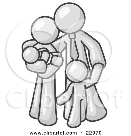 Royalty Free Rf Clipart Illustration Of Stick People Character Children Giving Their Mom