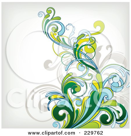 Royalty-Free (RF) Clipart Illustration of a Flourish Background On Off White - 1 by OnFocusMedia