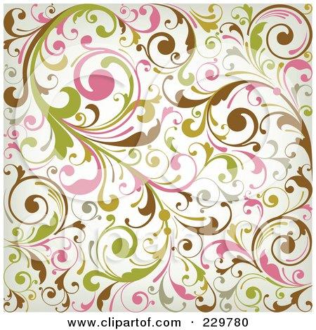 Pink Green Pattern