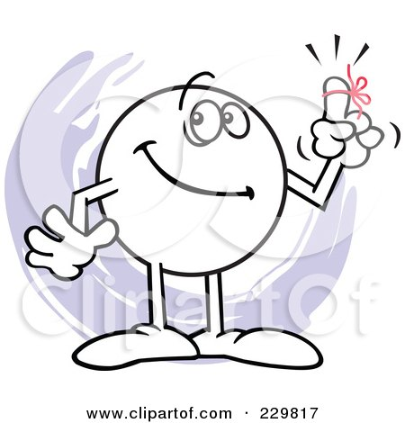 Royalty Free RF Friendly Reminder Clipart Illustrations