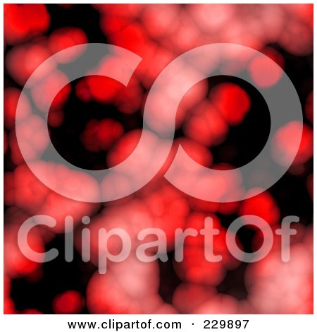 Royalty-Free (RF) Clipart Illustration of a Seamless Background Of Red Cells On Black by Arena Creative