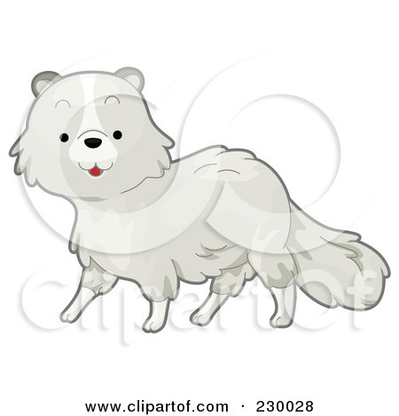 Royalty-Free (RF) Clipart Illustration of a Cute Arctic Fox by BNP Design Studio