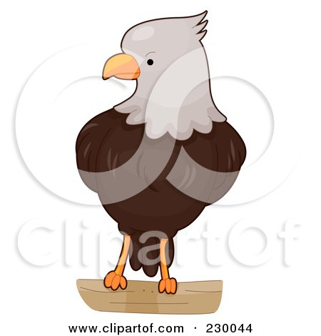 Royalty-Free (RF) Clipart Illustration of a Cute Bald Eagle by BNP Design Studio