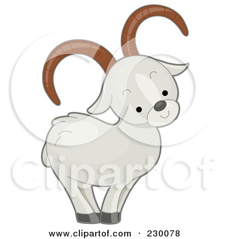 Royalty-Free (RF) Clipart Illustration of a Cute Dall Sheep by BNP Design Studio