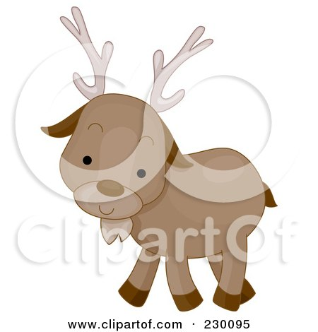 Royalty-Free (RF) Clipart Illustration of a Cute Caribou by BNP Design Studio
