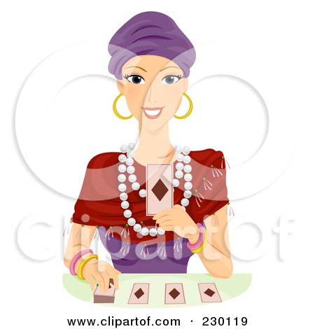 Fortune Teller Reading Cards Posters, Art Prints