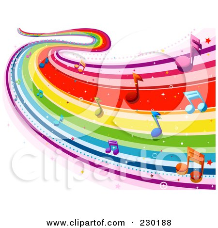 music note wallpaper. cuba, Rainbow+music+notes+