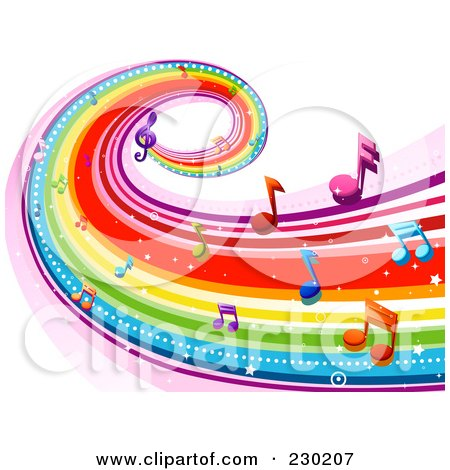 royalty free  rf  clipart of musical notes  illustrations  vector graphics 1 Musical Instruments Clip Art Colorful Music Notes Transparent