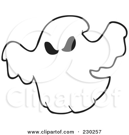 Coloring Page Outline Of A Spooky
