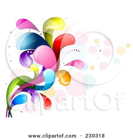 Royalty-Free (RF) Clipart Illustration of a Colorful Rainbow Splash - 11 by BNP Design Studio