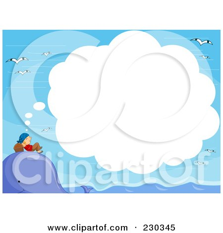 Royalty-Free (RF) Clipart Illustration of a Pirate Dreaming On A Whale's Head by BNP Design Studio
