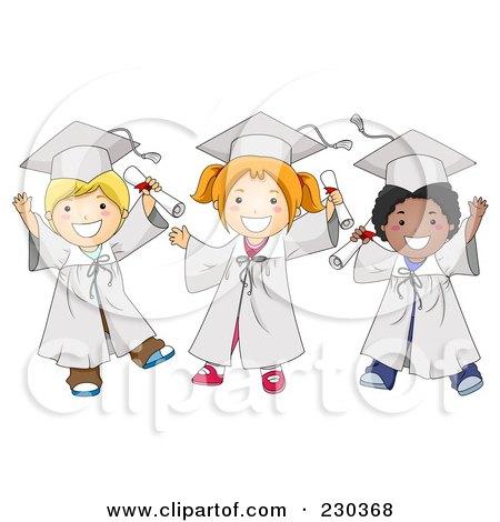 卡通幼儿毕业