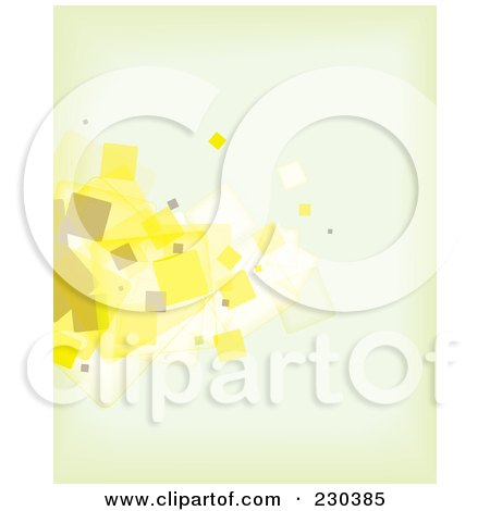 Royalty-Free (RF) Clipart Illustration of an Abstract Background Of Beige And Yellow Particles On Blue by michaeltravers