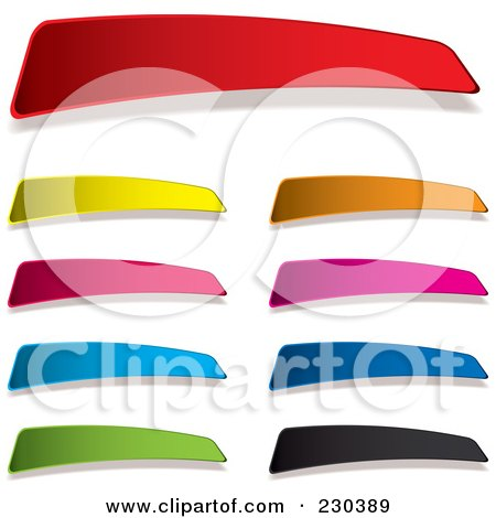 Royalty-Free (RF) Clipart Illustration of a Digital Collage Of Colorful Blank Tag Labels by michaeltravers