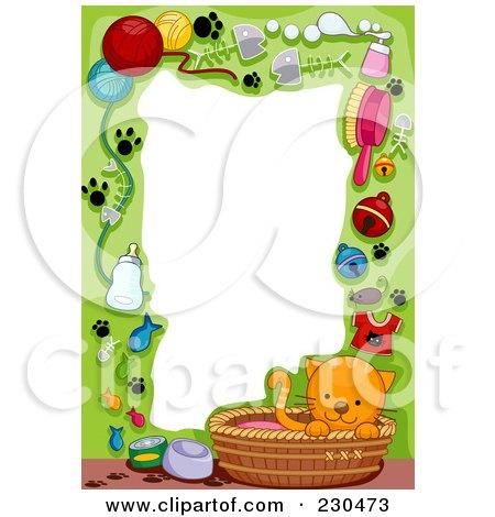 Royalty-Free (RF) Cat Border Clipart, Illustrations, Vector ...