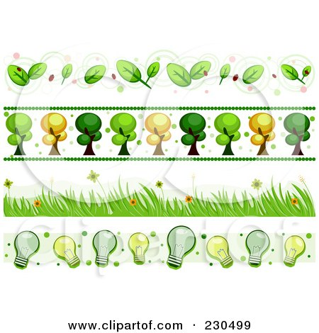 Royalty-Free (RF) Clipart Illustration of a Digital Collage Of Ecology Border Designs by BNP Design Studio