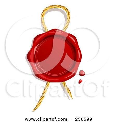 Blank Red Wax Seal Over Thread Posters, Art Prints