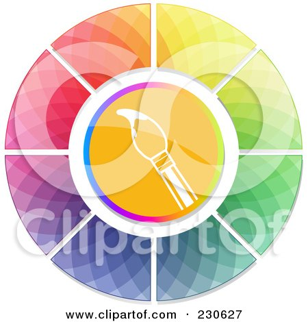 Royalty-Free (RF) Color Wheel Clipart, Illustrations, Vector ...