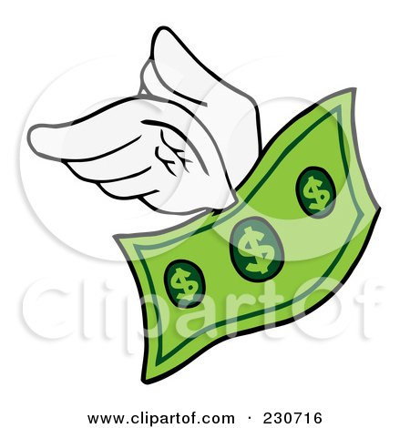 Royalty Free Rf Flying Money Clipart Illustrations