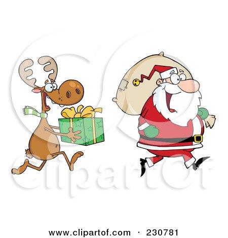 ... Elf Carrying A Christmas Gift Clip Art Boy Christmas Elf on Pinterest