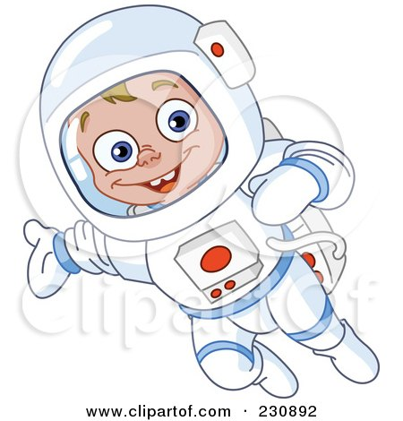 RF  Clipart Illustration of a Happy Astronaut Boy In A Space SuitKid Astronaut Clip Art
