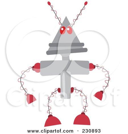 Royalty-Free (RF) Clipart Illustration of a Futuristic Robot - 2 by yayayoyo