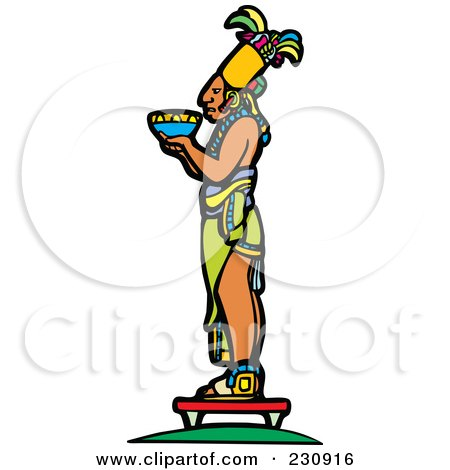 Mayan King Holding An Offering - 2 Posters, Art Prints