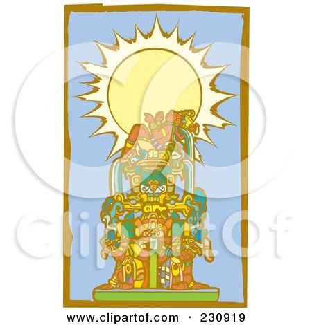 Mayan King Reclined - 2 Posters, Art Prints
