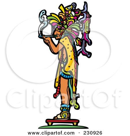 Mayan King Smoking - 1 Posters, Art Prints