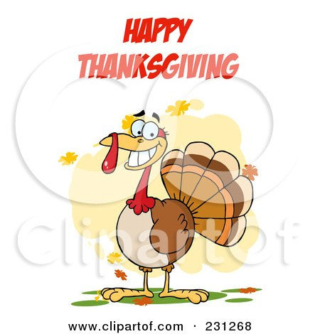 Happy Thanksgiving Over A Turkey Bird Posters, Art Prints by Hit ...