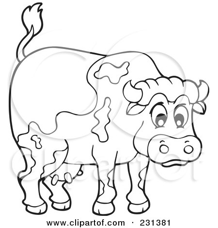 Royalty-Free (RF) Clipart Illustration of a Furious Bull ...