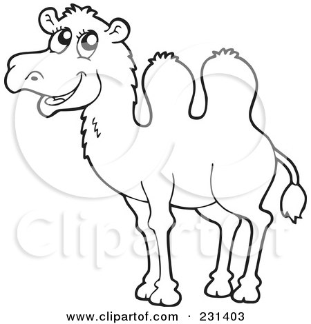 coloring pages camel face - photo#21