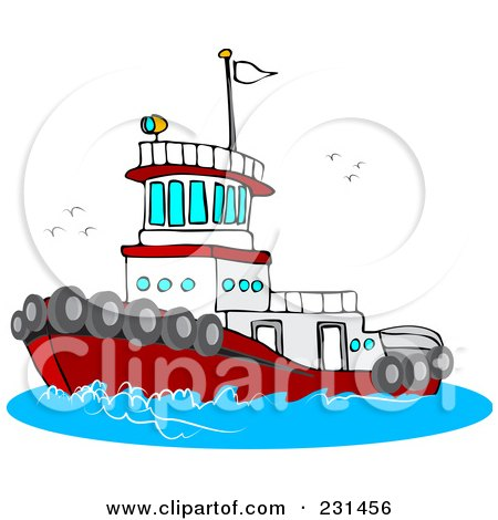 royalty free rf tugboat clipart illustrations vector graphics 1 rh clipartof com tugboat clipart free tugboat clipart black and white