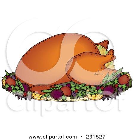 Sewn Folk Art Styled Stuffed Roasted Thanksgiving Turkey Posters, Art Prints