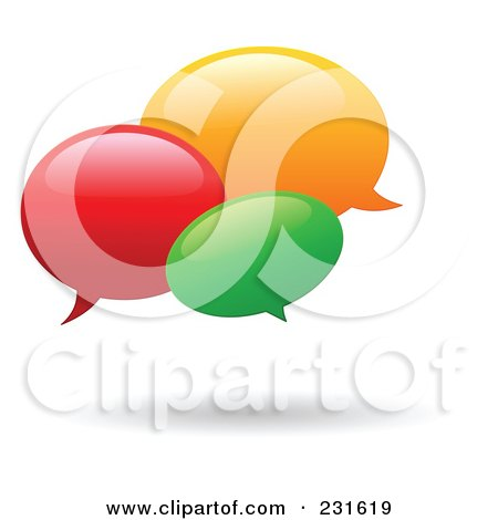 Royalty-Free (RF) Clipart Illustration of a Colorful Instant Messenger Windows With A Shadow by yayayoyo
