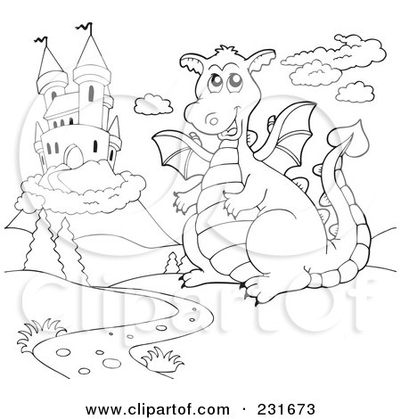 Dragon Coloring Pages on Fun Dragon Coloring Pages And Sheets     Pictures With Knights And