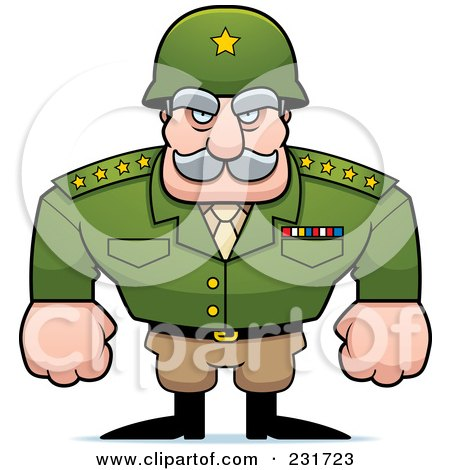 Royalty-Free (RF) Clipart Illustration of a Strong General by Cory Thoman
