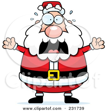 Royalty-Free (RF) Clipart Illustration of Santa Freaking Out by Cory Thoman
