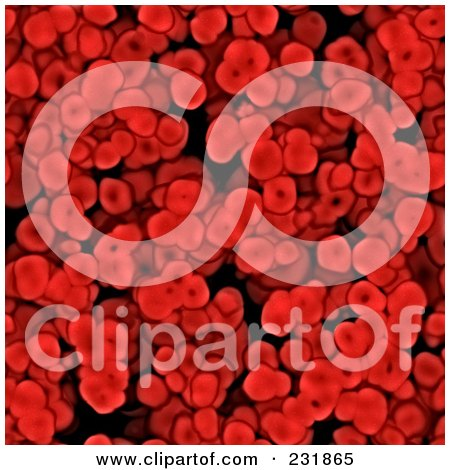 Royalty-Free (RF) Clipart Illustration of a Seamless Red Blood Cell Background by Arena Creative