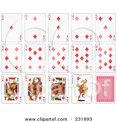 Royalty-Free (RF) Clipart Illustration of a House Of Diamond Playing Cards by Frisko