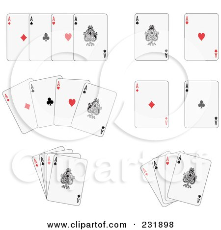 Royalty-Free (RF) Clipart Illustration of a Digital Collage Of Aces by Frisko