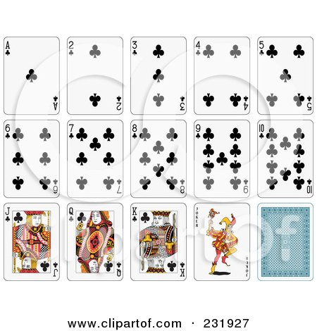 Royalty-Free (RF) Clipart Illustration of a House Of Club Playing Cards by Frisko
