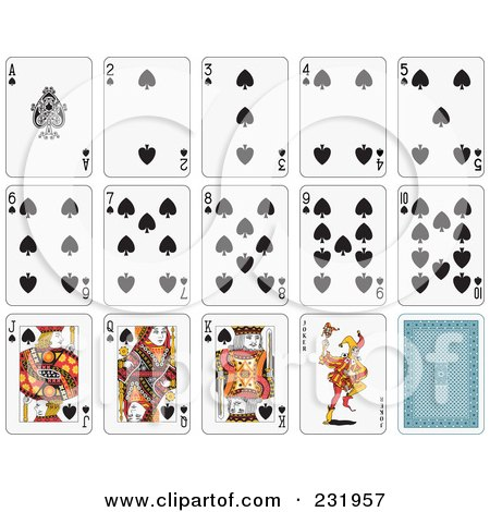 Royalty-Free (RF) Clipart Illustration of a House Of Spade Playing Cards by Frisko