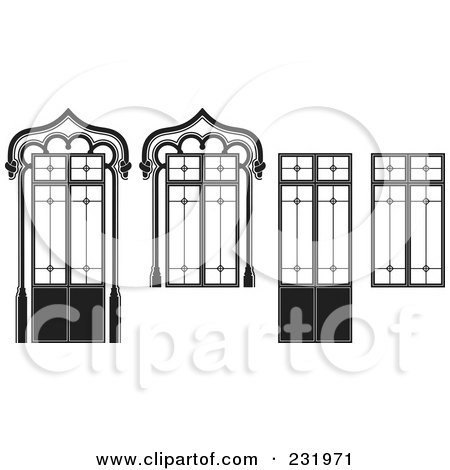 Royalty-Free (RF) Clipart Illustration of a Digital Collage Of Wrought Iron Designs - 2 by Frisko