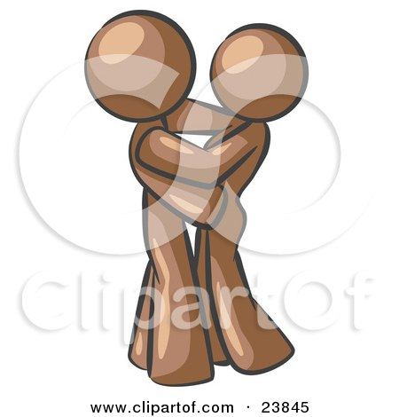 Brown Man Gently Embracing His Lover, Symbolizing Marriage And Commitment Posters, Art Prints