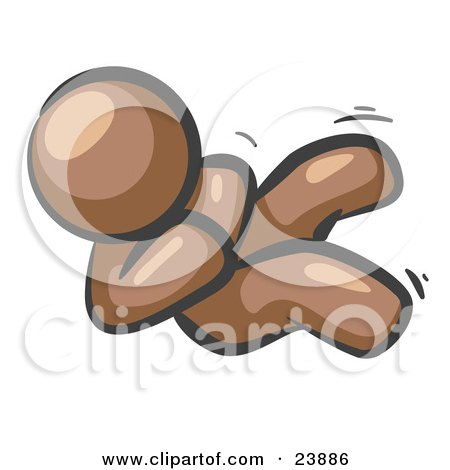 Happy Brown Man Rolling On The Floor And Giggling With Laughter Posters, Art Prints