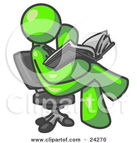 Clipart Illustration Of A Lime Green Man Sitting Cross
