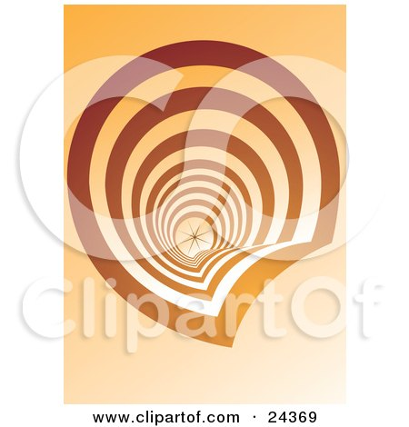 Clipart Illustration of an Abstract Downwards View Of A Spiraling Staircase All The Way Down To The First Floor by Eugene